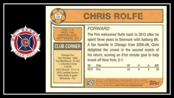 Congratulations to Chris Rolfe: A Chicago Fire favorite retires from professional soccer