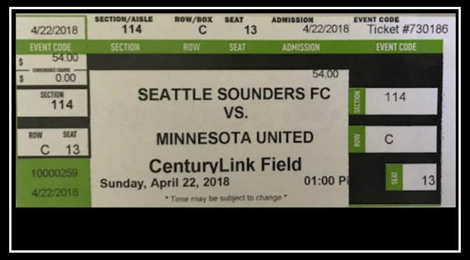 Seattle Sounders first win of the season