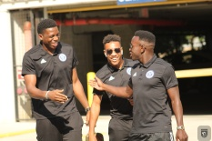 Sean Johnson, Jonathan Lewis and Kwame Awuah