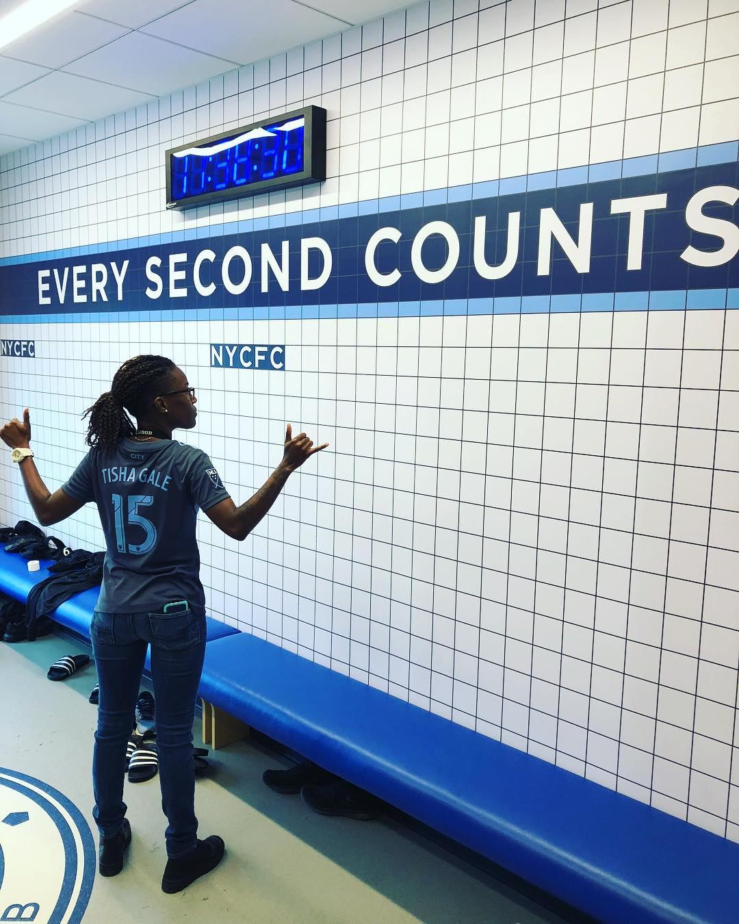 Every second counts🤙🏾 💙 #nycfc